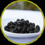 Aceituna española negra deshuesada aderezada en salmuera